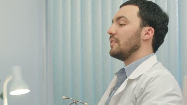 Hospital: Doctor Checks Heartbeat