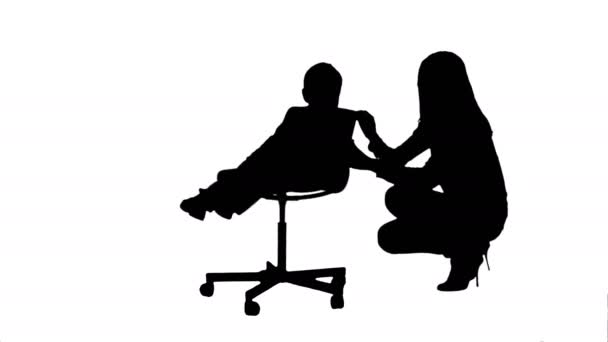 Silhouette Mother And Boy Play Game Stock Video C Fancystudio