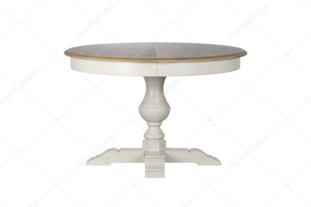 Antieke witte ronde tafel u2014 stockfoto © petinovs #70376963