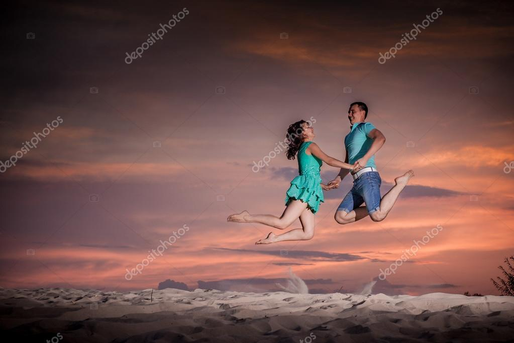 ballet, couple, nature, jump