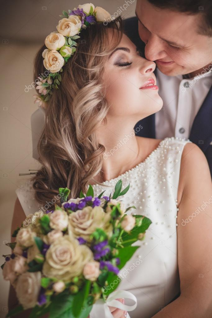 smile kiss bride lips — Stock Photo © lobodaphoto #96950888