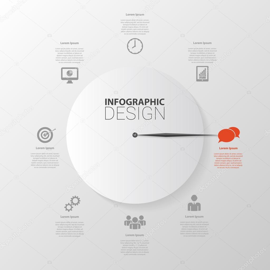 Gestión planificación infografía la plantilla. Ilustración de vector ...