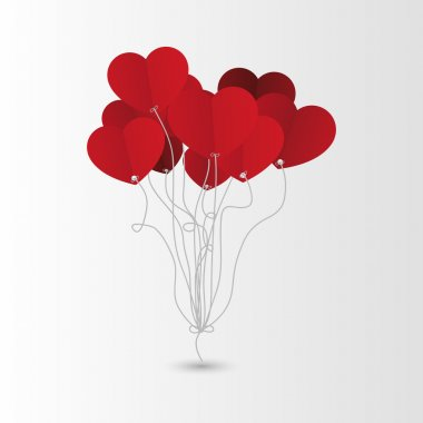 Valentines Day Heart Balloons. Background. Vector. clip art vector