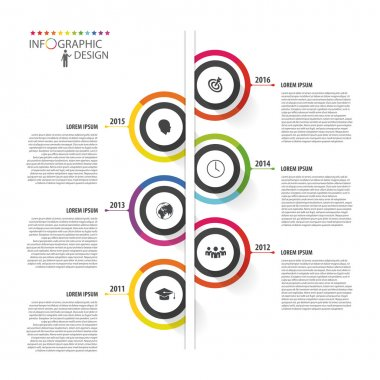Abstract timeline infographic template. Vector illustration.
