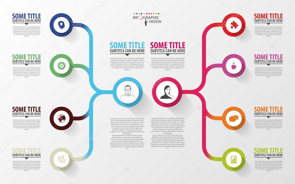 infografia moderna  modelo de design de plano de neg u00f3cios