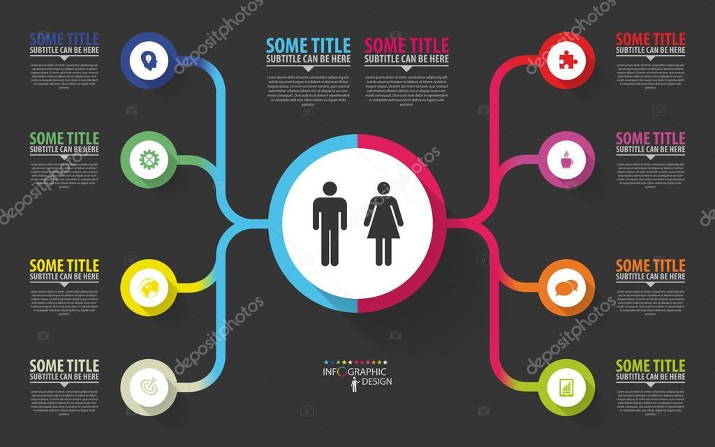 Modern Infographics Business Plan Design Template Vector Stock - Business plan design template