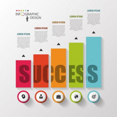 Infographic template. Modern design graph with columns. Vector
