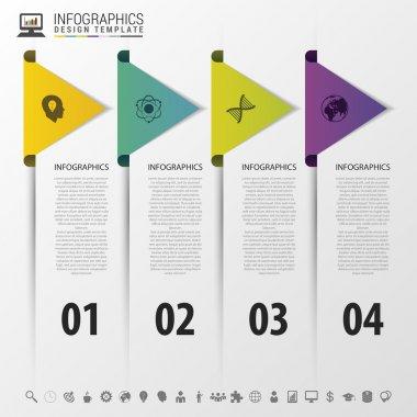 colorful arrows. infographic timeline concept. Modern design template. Vector illustration