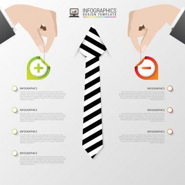 Business infographic template. Modern design. Pros and cons. Vector illustration