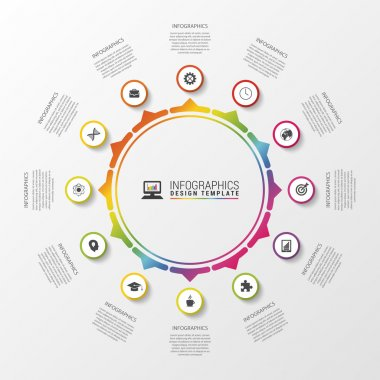 Circle infographic. Template for diagram, graph, presentation and chart. Vector illustration
