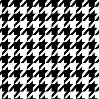 Houndstooth seamless black pattern