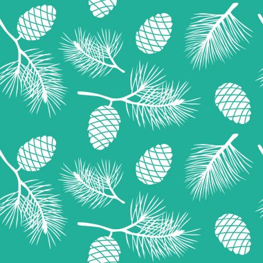 Cones and branches pattern.