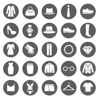 Set of Clothes Icons.