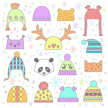 Children's winter hats set