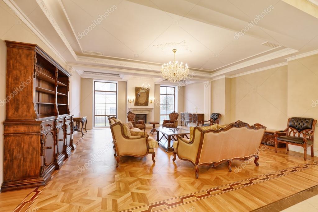 Innenarchitektur Wohnzimmer In Luxus Landhaus U2014 Foto Von Ovchinnikovfoto