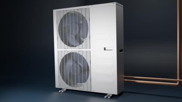 Zwei-Ventilatoren-Klimaanlage im Außenbereich