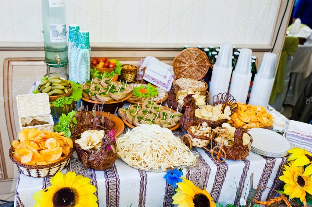 Wedding Reception Snacks For Beer Stock Photo Asphoto777 103220504