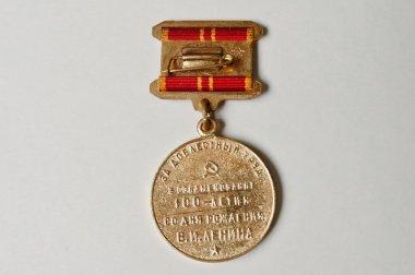 Soviet medal for the valiant work 100 anniversary of Lenin's bir