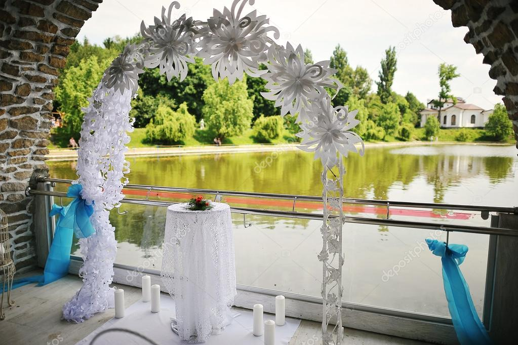 Wedding ceremony wedding decorationsding archway stock wedding ceremony wedding decorations wedding archway photo by asphoto777 junglespirit Images
