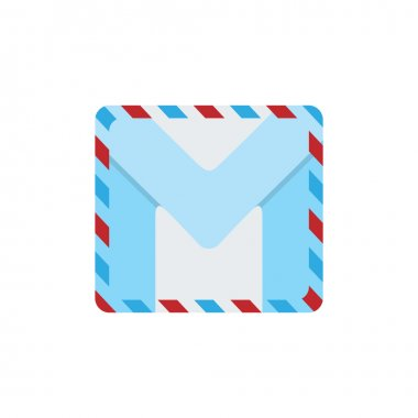 Letter M in the form of a mail letter.