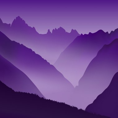 Lifeless landscape with huge mountains.