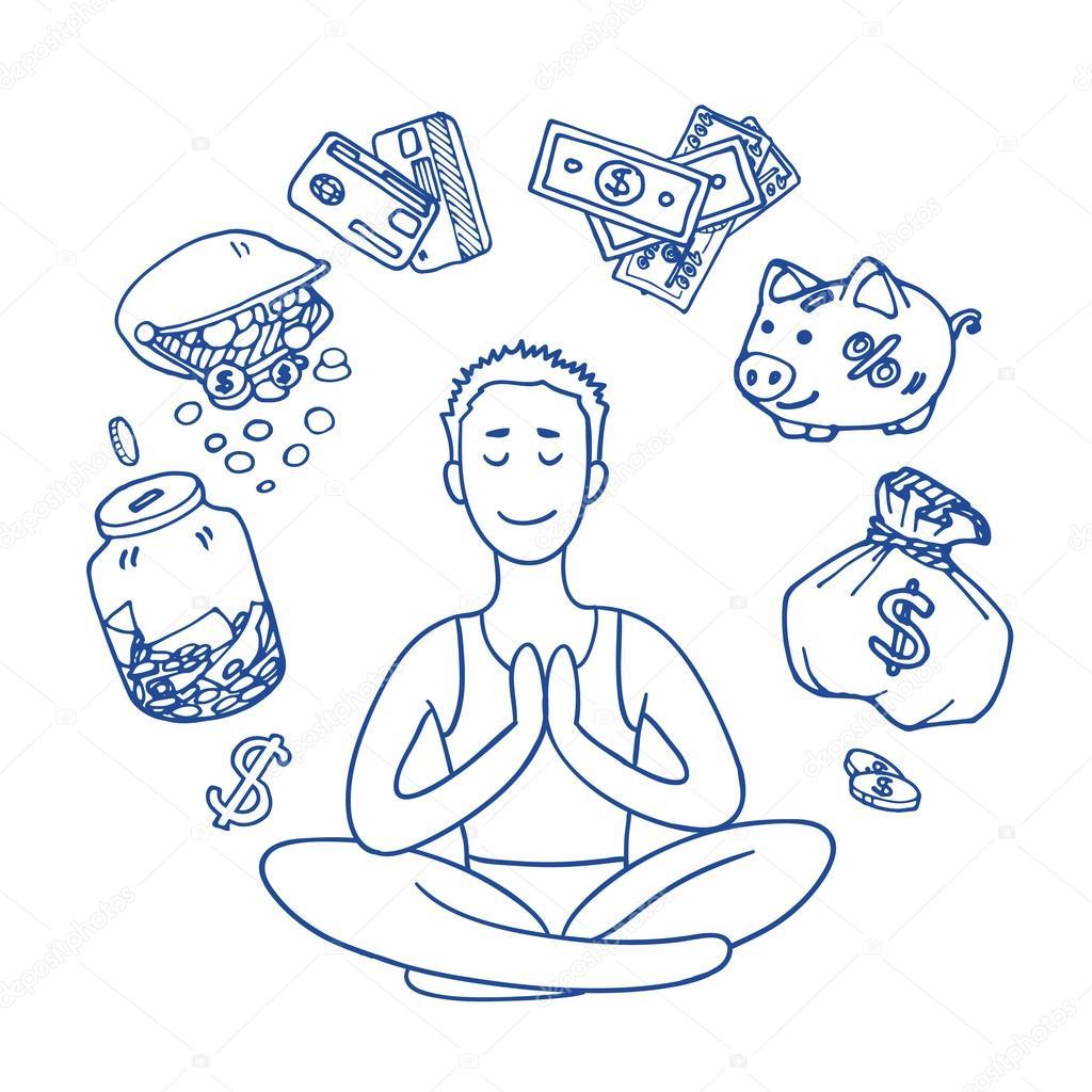 Поздравлялка и пожелалка 3 (новая тема) - Страница 9 Depositphotos_117366204-stock-illustration-financial-yoga-businessman-meditating-on