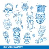 Photo Collection of african masks