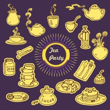 Tea party doodles