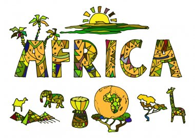 African ethnic symbols