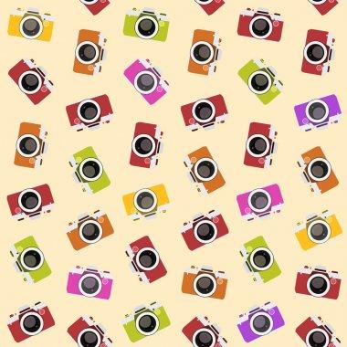seamless pattern with camera