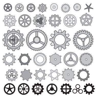 Steampunk collection machine gears