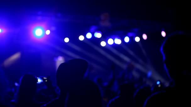 koncert v osvětlení, noční