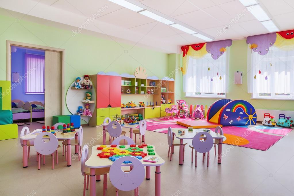 Preschool Classroom Design Standards : Kindergarten game room — stock photo kot