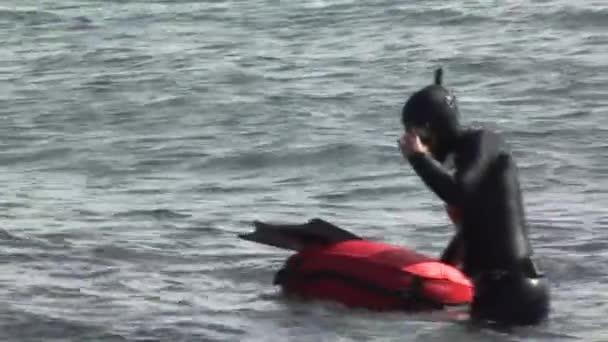 Freedivers výstupní vody