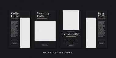 Coffe instagram stories template icon