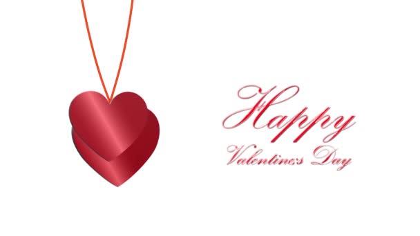 Krásné pozadí 3D srdcí. Šťastného Valentýna. 14. února. srdce létají. Pro milovaného. Den matek. Narozeniny. Pro svatební klipy 4K video
