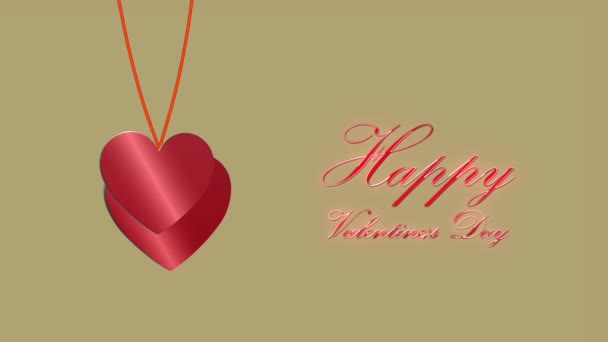 Beautiful background of 3d hearts. Happy Valentines Day. 14th February. hearts fly. For the beloved. Mothers Day. Birthday. For wedding clips 4K video