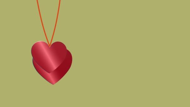 Gyönyörű háttér 3D-s szív. Boldog Valentin napot. Február 14. Repül a szív. A szerelmeseknek. Anyák napja. Születésnap. Esküvői klipekhez 4K videó
