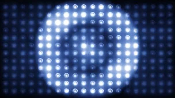 Villogó fények. Vezetett színpadi lámpák megvilágított lámpák Koncertlámpák, háttérzene klipek LOOP - SEAMLESS 4K videó
