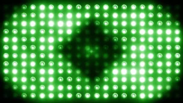 Villogó fények. Vezetett színpadi lámpák megvilágított lámpák Koncertlámpák, háttérzene klipek. Circles zoom out LOOP - SeAMLESS 4K videó