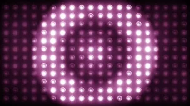 Villogó fények. Vezetett színpadi lámpák megvilágított lámpák Koncertlámpák, háttérzene klipek. Nagyíts ki különböző formákkal. LOOP - SeAMLESS 4K videó