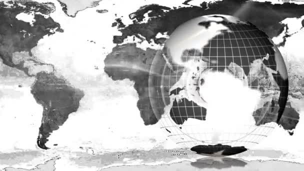 mapa zeměkoule a země