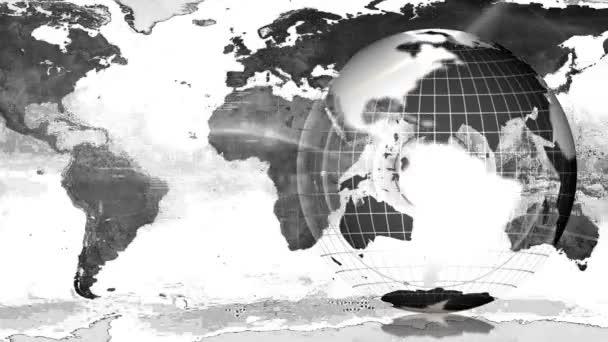 Globus und Erdkarte