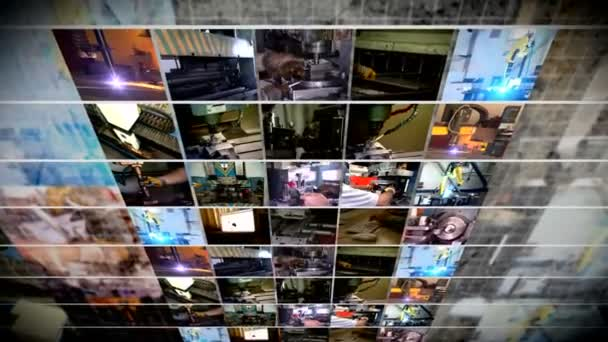 Industrial production collage