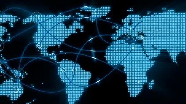 Welt-Kommunikation-Schleife