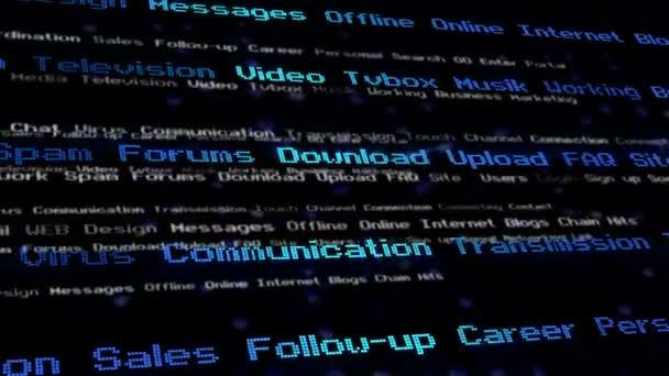 digitální komunikace pozadí