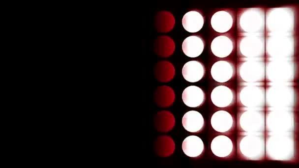 red lighting bulbs