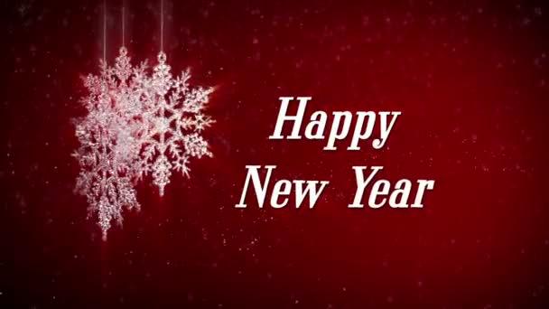 šťastný nový rok znamení a sněhové vločky
