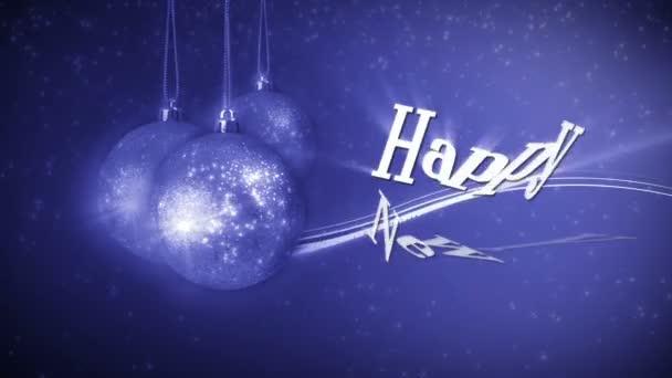 Novoroční dekorace hračky a pozdravy