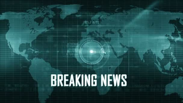 Breaking news technology background
